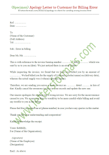 apology letter to client for sending wrong invoice