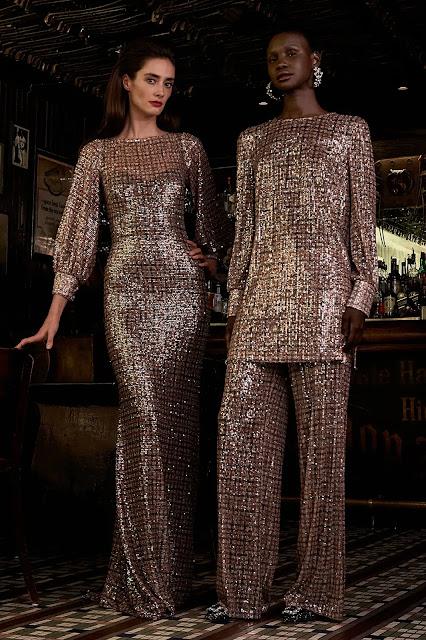 Badgley Mischka Autumn Winter 2021 FW21 during New York Fashion Week by fashion blogger Kelly Fountain