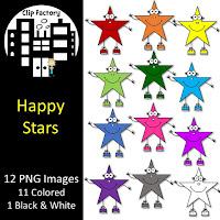 FREE Rainbow Stars Clipart