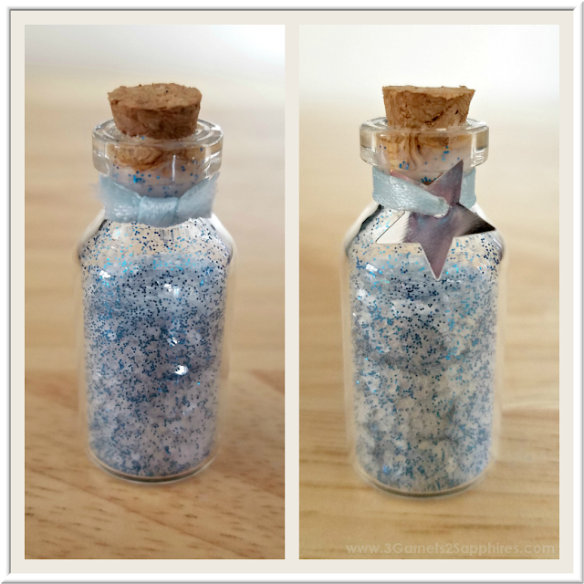 DIY Fairy Dust Bottles Fairy Garden Craft  |  3 Garnets & 2 Sapphires