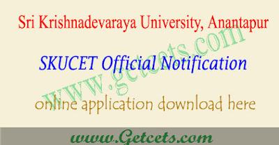 SKUCET notification 2020-2021, sku pgcet apply online, exam date