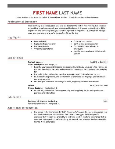 Dla resume builder