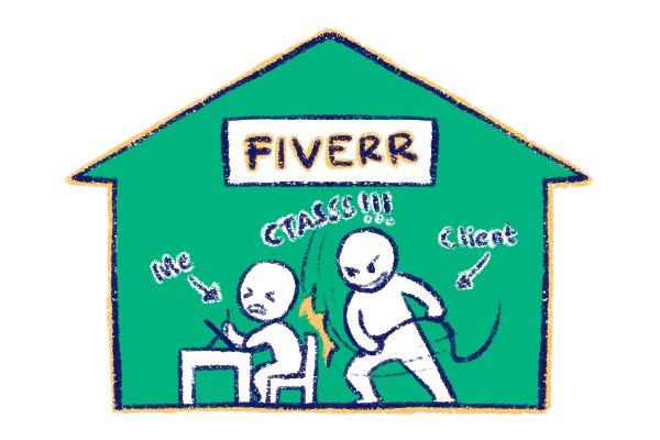 Pengalaman Buruk Saya Menjadi Freelance Illustrator Di Fiverr Noov