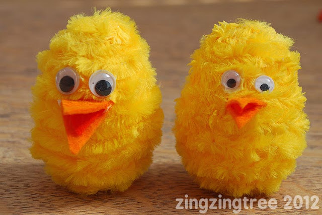 Plastic egg chick craft idea