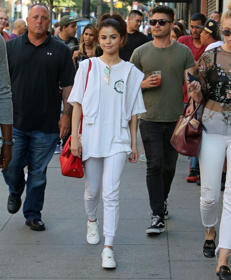 Selena Gomez Cute Street Style Out in NYC