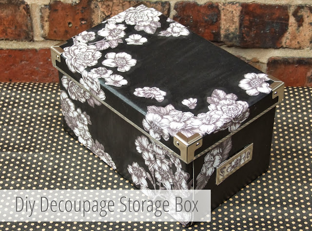 Diy Decoupage Storage Boxes using floral gift wrap.