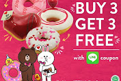 Krispy Kreme Promo Buy 3 Get 3 Free Doughnuts Dengan Kupon Line