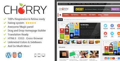 Download News Cherry v3.6.2 News Magazine Newspaper Wordpress Theme