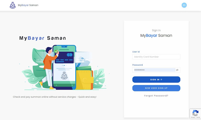 Menggunakan MyBayar Saman