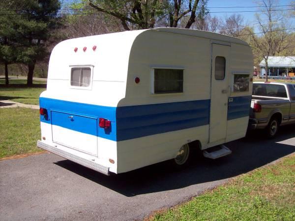 used rvs restored like new 1964 phoenix vintage camp trailer for sale by owner. Black Bedroom Furniture Sets. Home Design Ideas