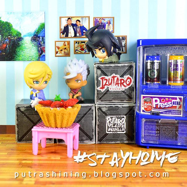 Stay at Home: SD Gundam cute diorama by Putra Shining