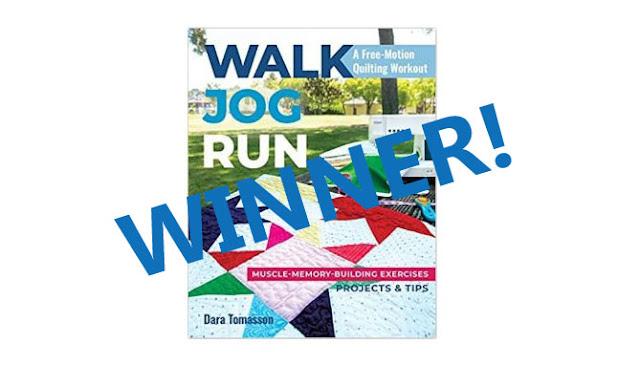 walk jog run quilting book
