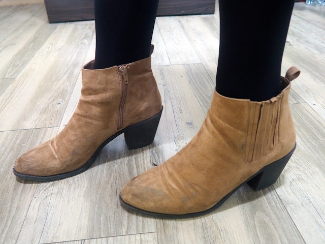 Arthur from The Sword in the Stone Disneybound - outfit shoe details of light brown suede ankle boots