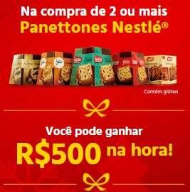 Panetones Nestlé 500 Reais Natal 2018 Premiado