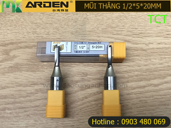 Mũi Router Arden 1/2*5*20mm TCT
