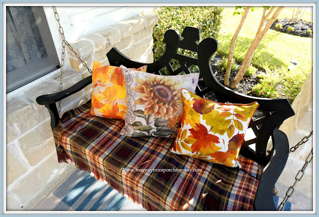 Farmhouse Cottage Style Fall Front Porch-Fall Pillows-From My Front Porch To Yours