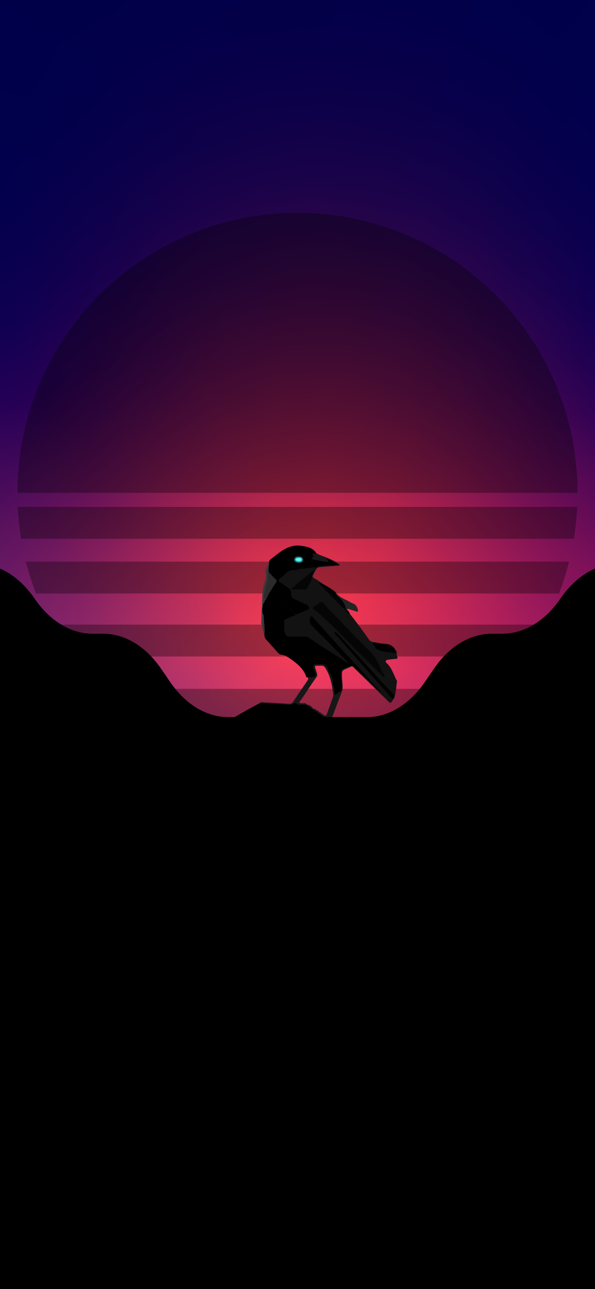 Synthwave style crow wallpaper 4k synth style background wallpaper