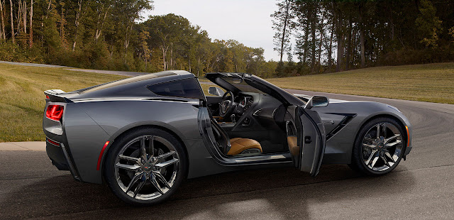 The 2014 Chevrolet Corvette Stingray side open