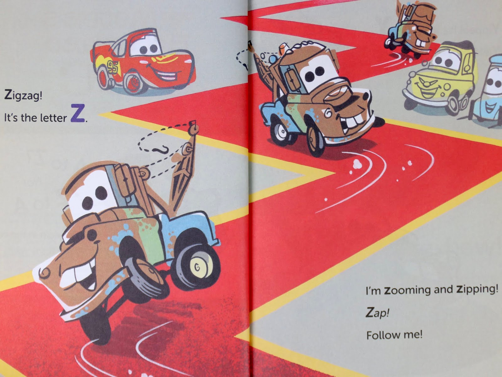 Cars 3 Mater's Backward ABC Book