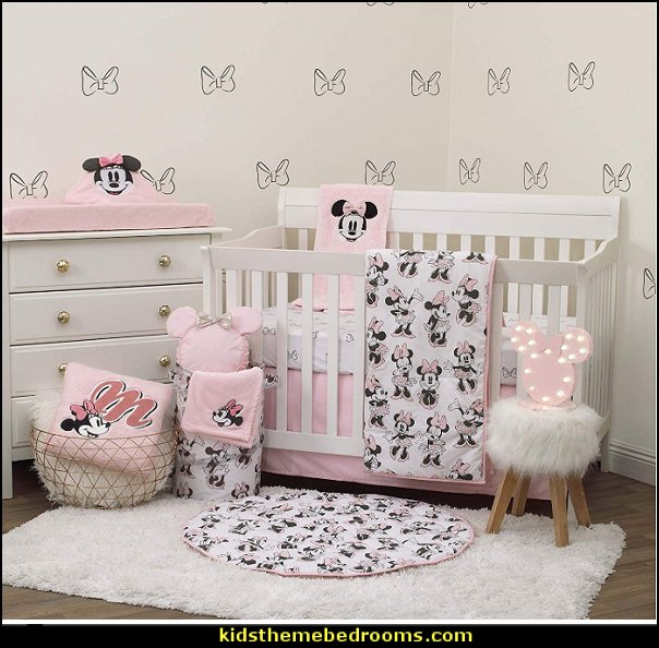 Disney Minnie Mouse 6 Piece Nursery Crib Bedding Set Mickey Mouse bedroom ideas - Minnie Mouse bedroom decorating - Mickey Mouse bedding - Minnie Mouse Bedding - Mickey Mouse wall decals - Mickey Mouse Comforters - Disney bedding - Disney home decor - Mickey & Friends - Mickey Mouse furniture  - Minnie Mouse wall decals - Mickey Mouse wall decal stickers - Mickey Mouse murals