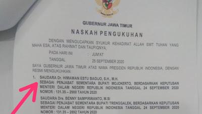 Gubernur Khofifah Kukuhkan 6 PJs Bupati-Walikota, Himawan Gantikan Pungkasiadi Jadi  Bupati Mojokerto