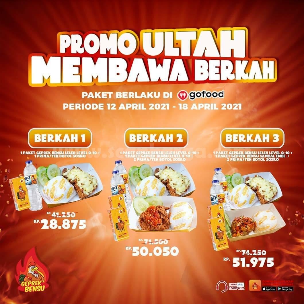 GEPREK BENSU Promo ULTAH MEMBAWA BERKAH mulai Rp 28.875 via GOFOOD