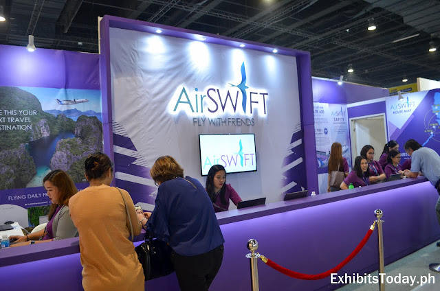 Air Swift exhibit booth