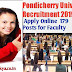 Pondicherry University Recruitment 2019 - Apply Online - 179 Posts for Faculty