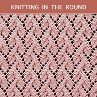 Eyelet Lace 82 -Knitting in the round
