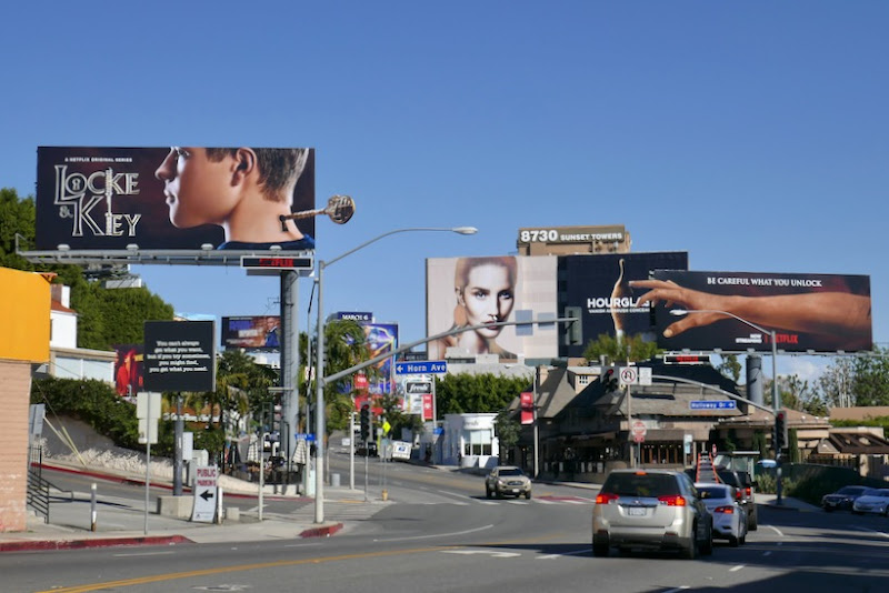 Interconnected Locke & Key series billboards Sunset Strip