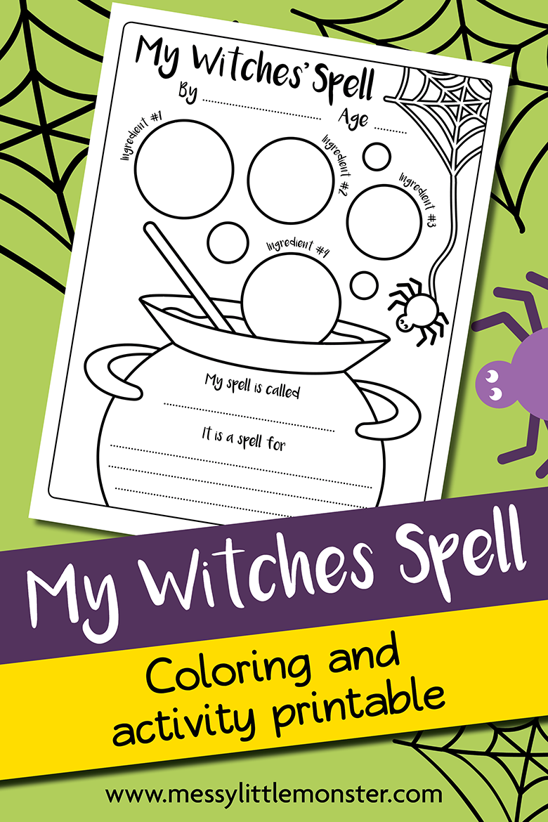 Witches Brew Halloween Magic Potion Activity and Printable Worksheet.