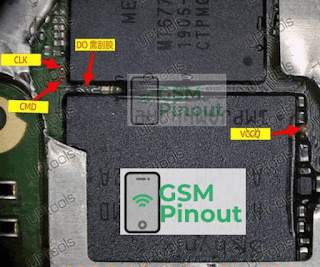 Oppo F11 CPH1911 ISP(EMMC) Pinout For EMMC Programming Flashing And Remove FRP Lock