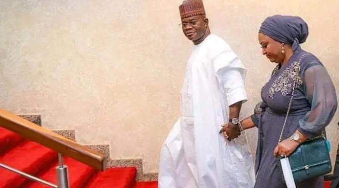 Amidst marriage crisis, Yahaya Bello flaunts First Lady, Rashida [photos]