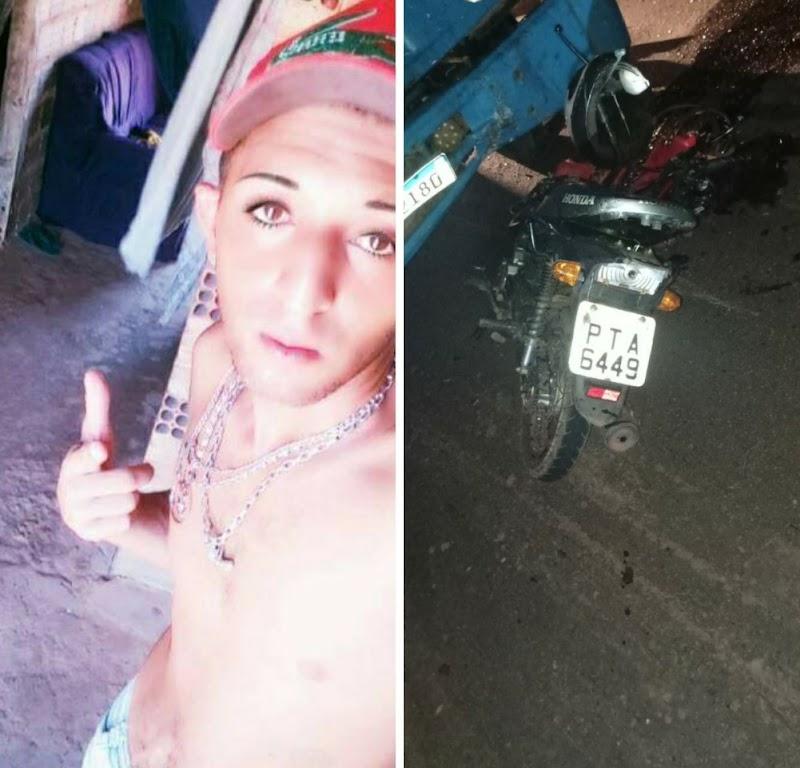 Colisão frontal entre moto e caminhão deixa vítima fatal na Barriguda do Insono em Pedreiras.