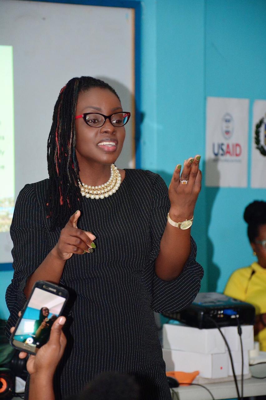 Larisa McBean, presenting at a TPDCo function