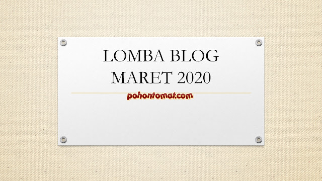 lomba blog maret 2020