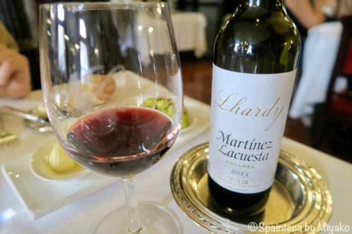 Martinez Lacuesta Lhardy ラルディ店名入りのスペインのリオハ産赤ワイン