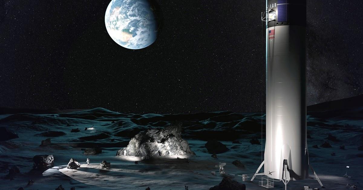 SpaceX Lunar Starship delivering cargo for Artemis Base Camp