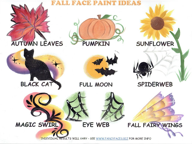 Fall face painting designs by Fancy Faces of Rochester