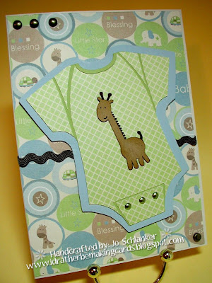 I D Rather Be Making Cards Baby Giraffe Baby Card