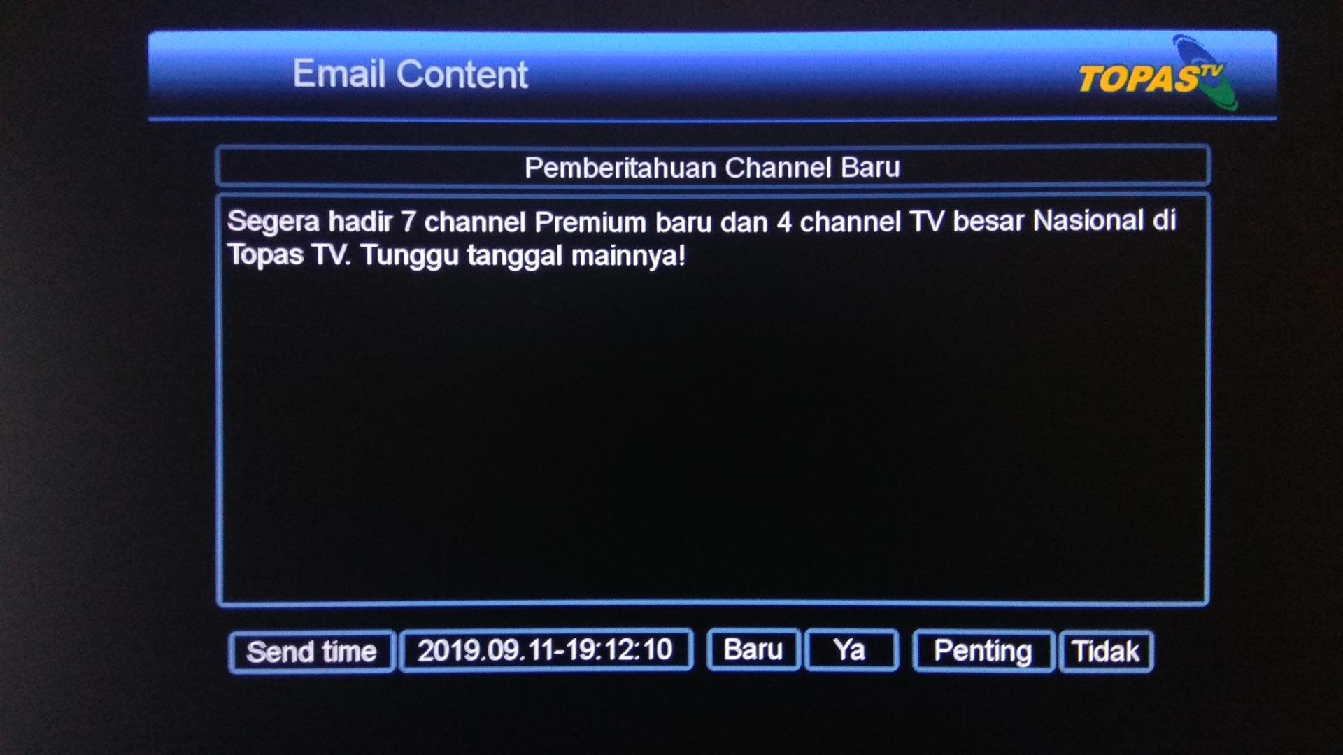 Daftar Channel Topas TV Terbaru Tambah 11 Siaran Parabola