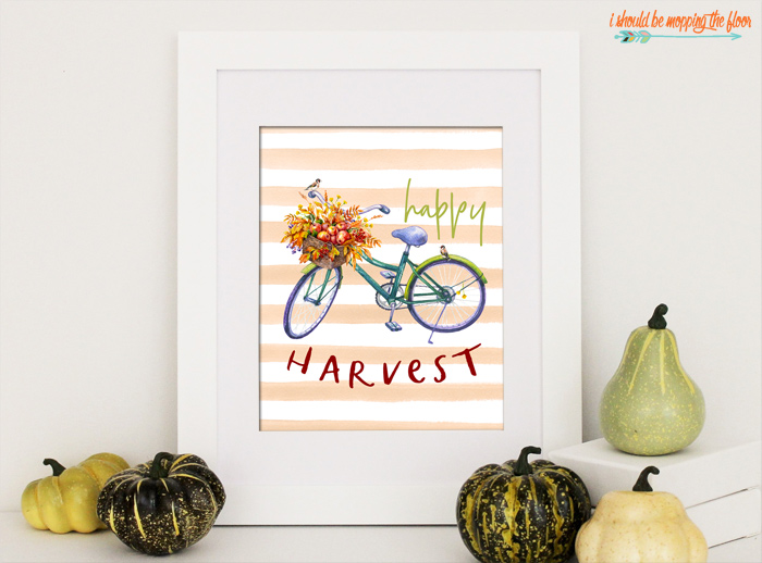 Fall Bicycle Printable