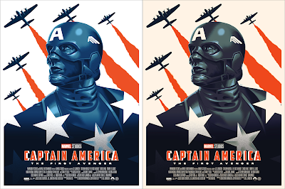 Captain America: The First Avenger Screen Print by Doaly x Grey Matter Art x Marvel