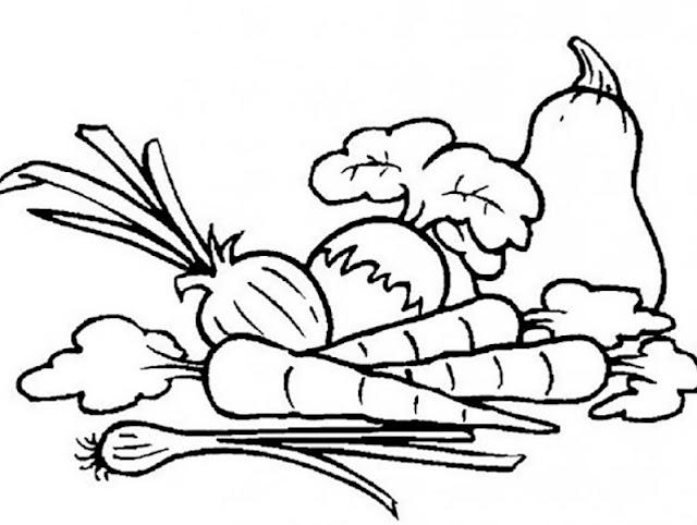 Mewarnai Gambar sayuran