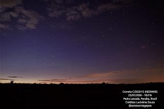 Passagem do cometa Neowise é registrada em Pedra lavrada  na Paraíba