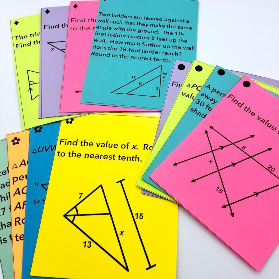 12 Ideas for Teaching Similar Triangles   Mrs. E Teaches Math [ 900 x 900 Pixel ]