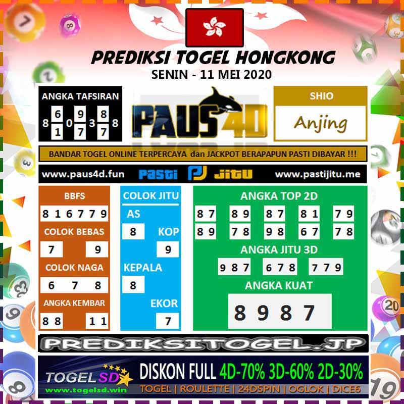 Prediksi Togel Hongkong Senin 11 Mei 2020 - Prediksi Paus4D