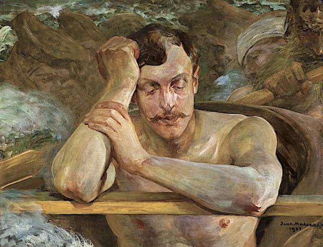 Jacek Malczewski (1854-1929), Avec l'aide de Charron, 1911 (Pomocnik Charona, 1911) ,Collection privée