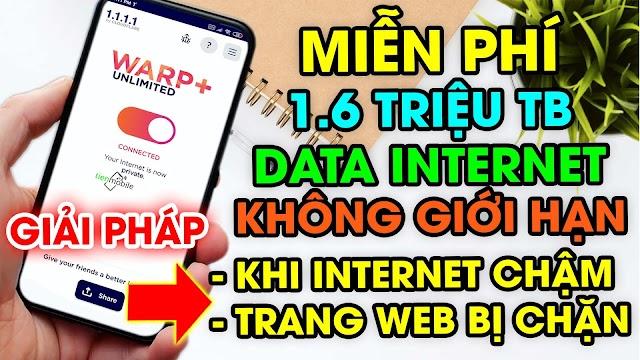 Cập nhật List KEY miễn phí 1.6 triệu TB data WARP+ cho ứng dụng VPN 1.1.1.1 (2/6/2020)