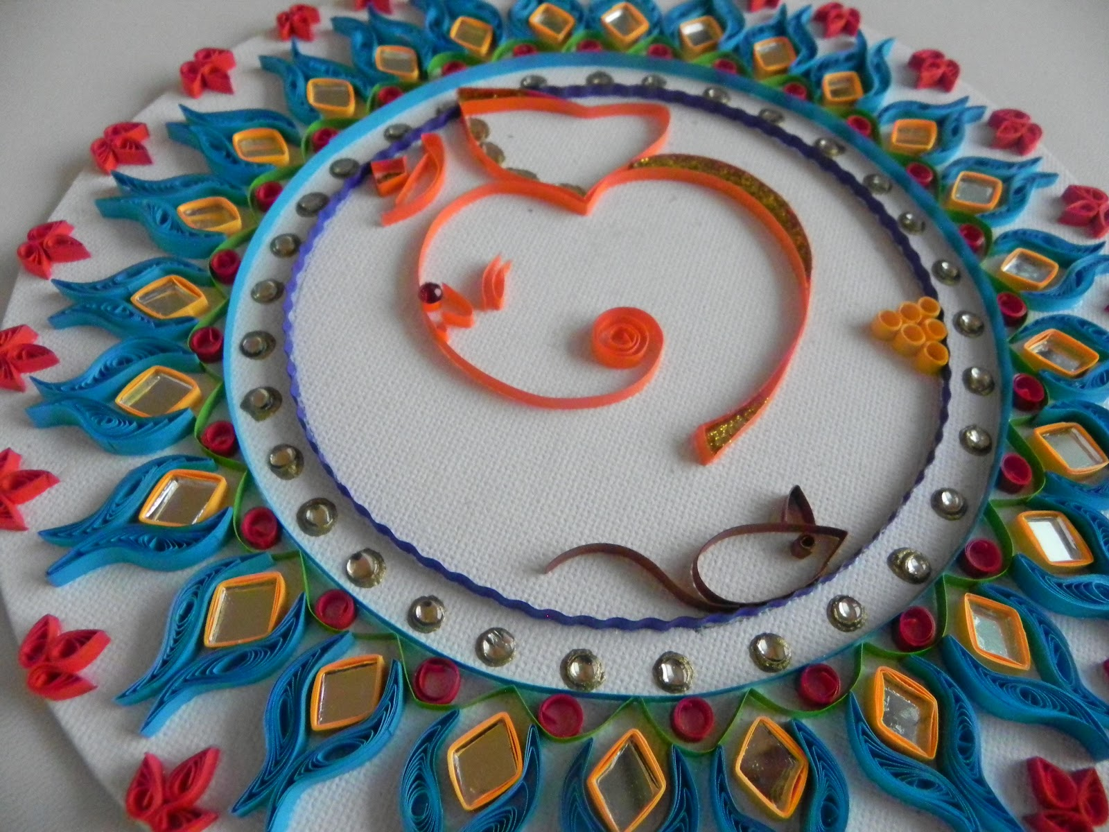 Smilingarts: Om Ganesh quilled wall hanging